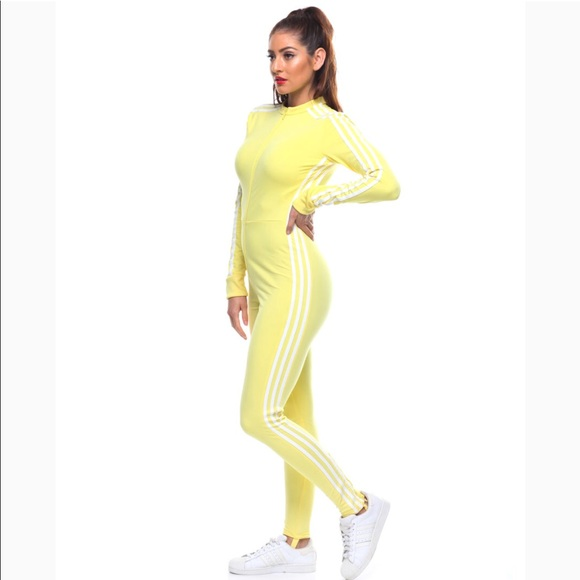 35fe31231dae Adidas Stage Suit in yellow